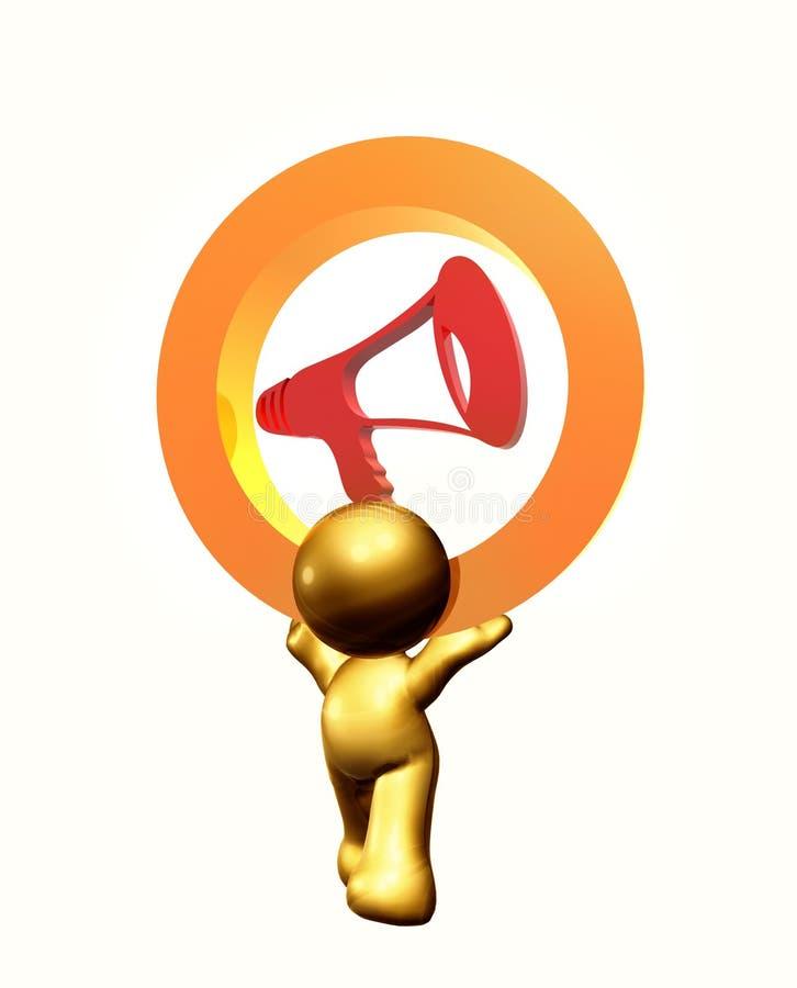 Fale seu símbolo do ícone da mente ilustração do vetor