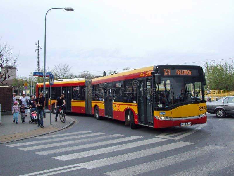 Falenicabushalte in Wawer-district stock afbeeldingen