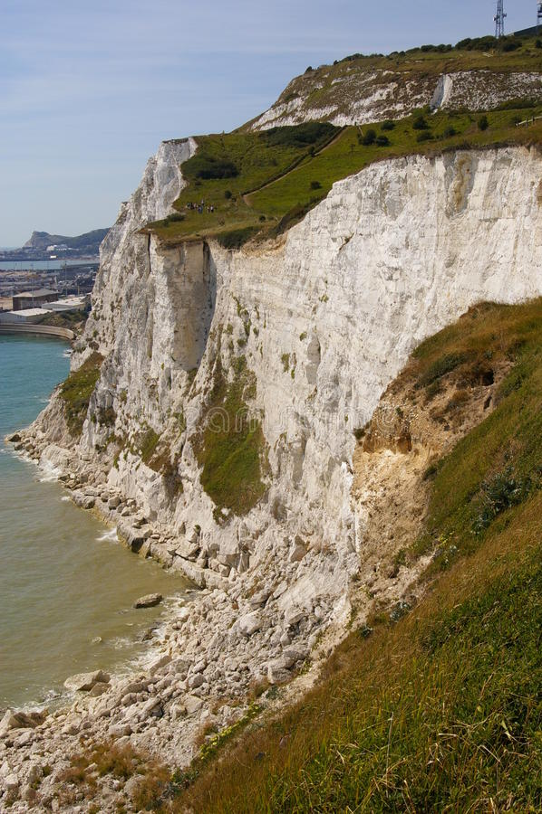 falez Dover biel zdjęcie stock