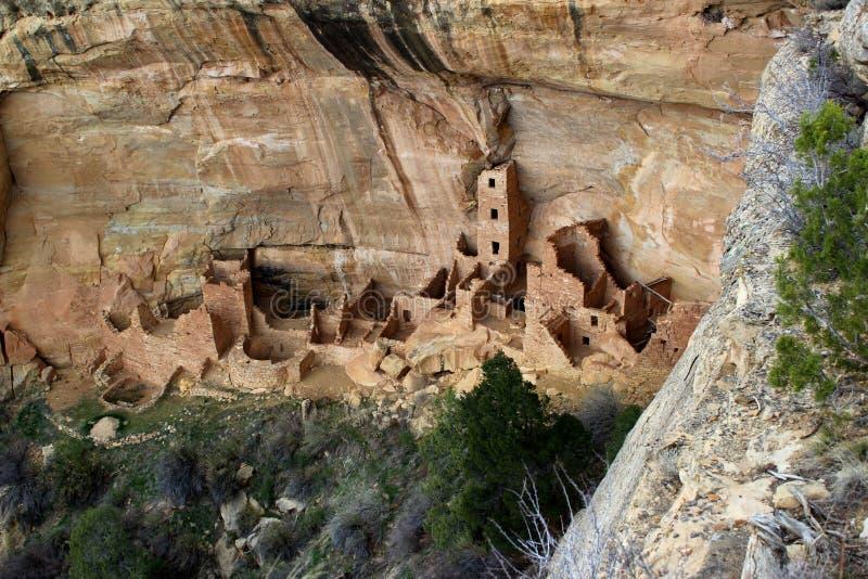 Falez mieszkania w mesy Verde parkach narodowych/Kolorado /USA zdjęcie stock