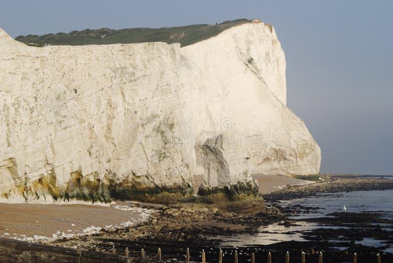falez wschodniego seaford Sussex uk biel fotografia stock