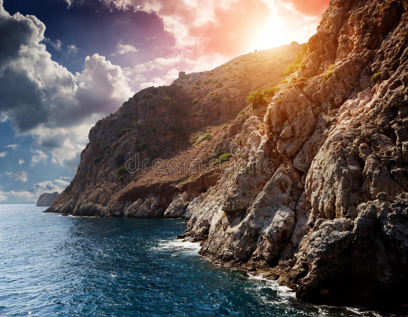 Faleza morzem zdjęcia royalty free