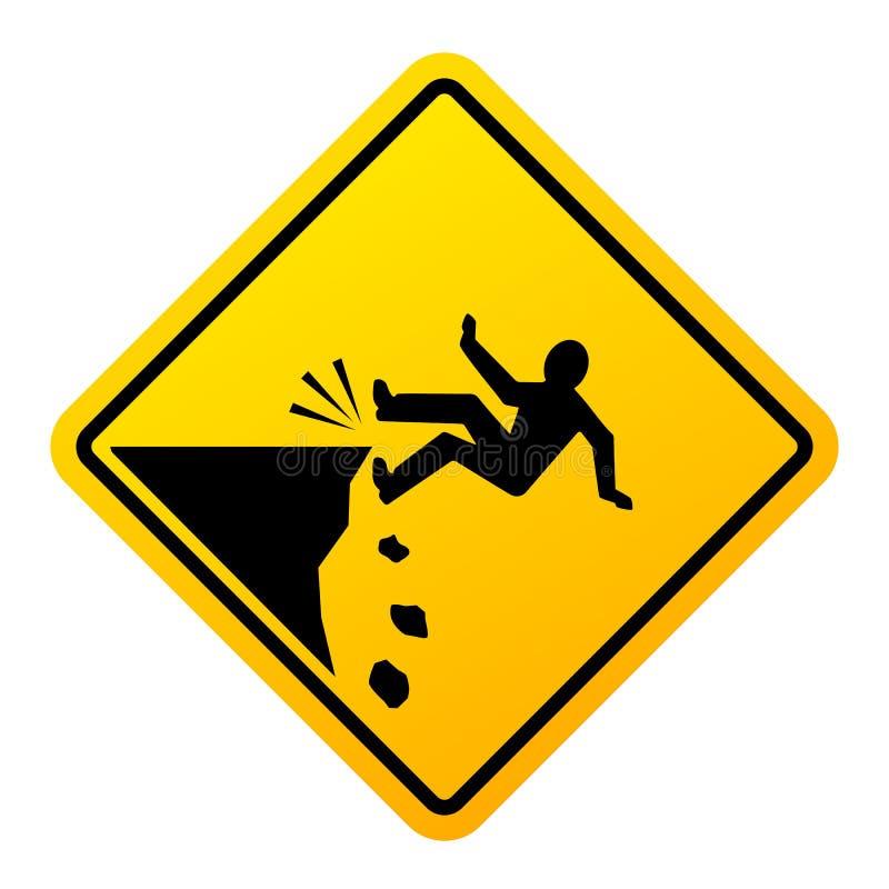 Faleza spadku niebezpieczeństwa wektoru znak ilustracja wektor