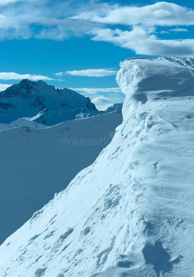 Faleza z śniegiem (Austria) zdjęcia stock