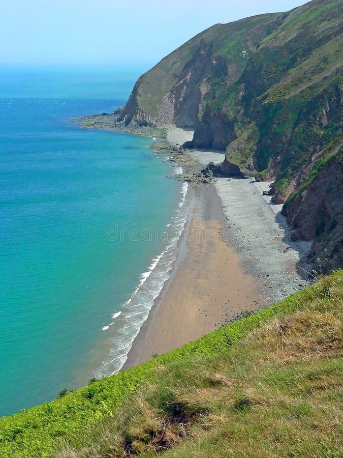 Falezy blisko lynton, nabrzeżny krajobrazowy Devon, południowo-zachodni England obraz stock