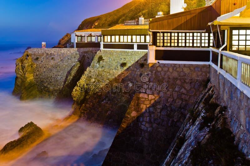 falezy domowy Portugal zmierzch zdjęcie stock