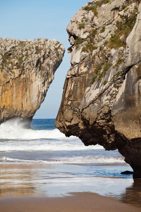 Falezy i morze obrazy stock