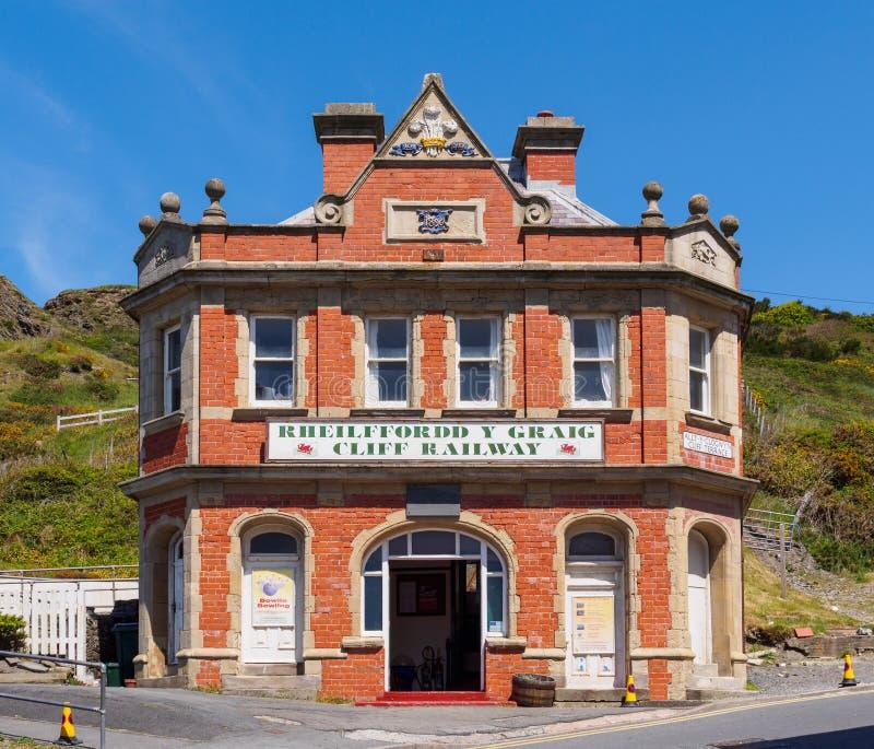 Falezy Kolejowy Terminus, Aberystwyth obraz royalty free