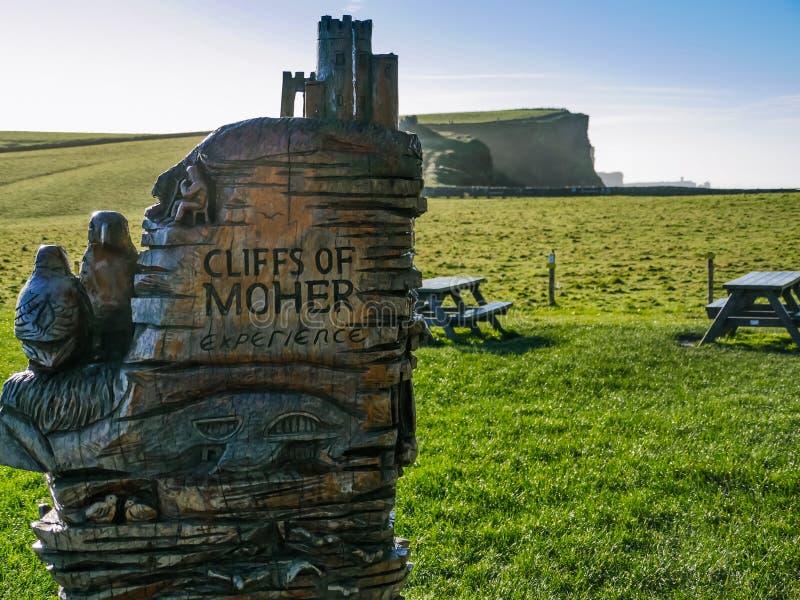 Falezy Moher w okręgu administracyjnym Clare obraz royalty free