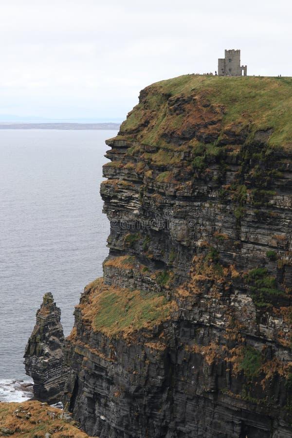 Falezy Moher z O ` Brien Górują okręg administracyjnego Clare Irlandia 1 obrazy royalty free