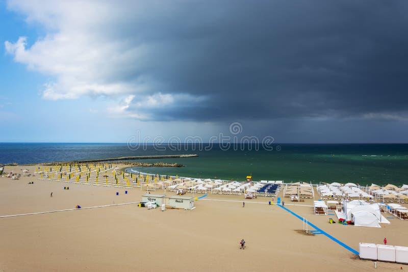 Falezy Nord wybrzeże w Constanta obraz royalty free