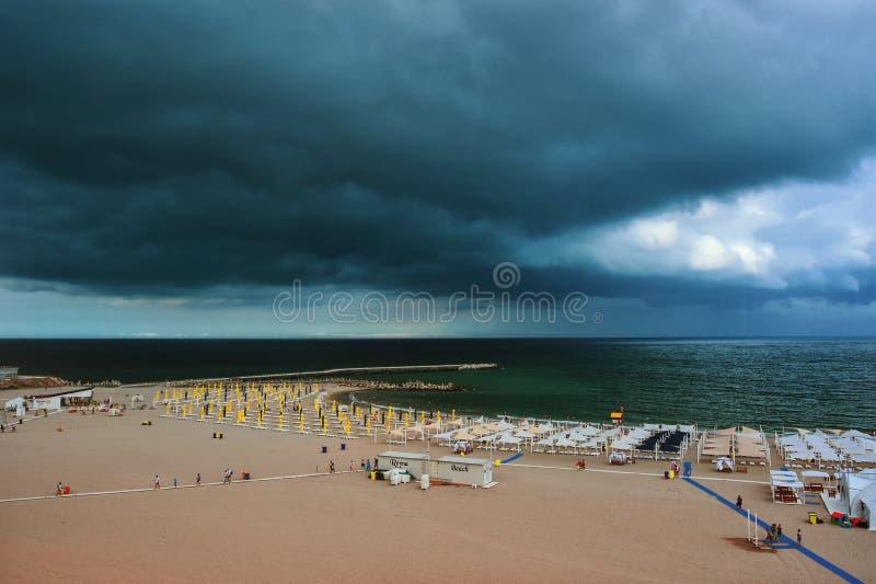 Falezy Nord wybrzeże w Constanta zdjęcie stock