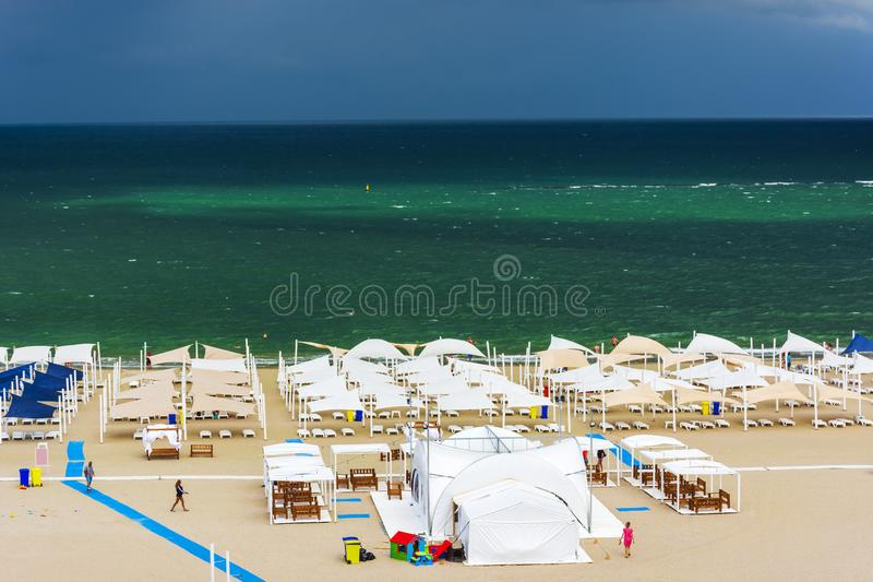Falezy Nord wybrzeże w Constanta fotografia stock