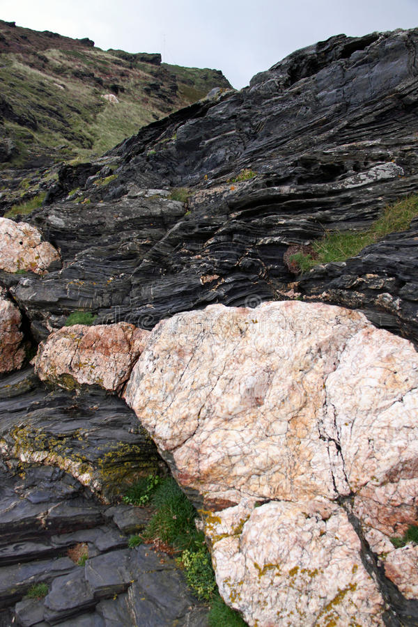 falezy szczegółu kwarc skały kamień fotografia royalty free