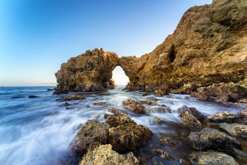 Falezy wyspa w newport beach i laguna beach, Kalifornia zdjęcie royalty free