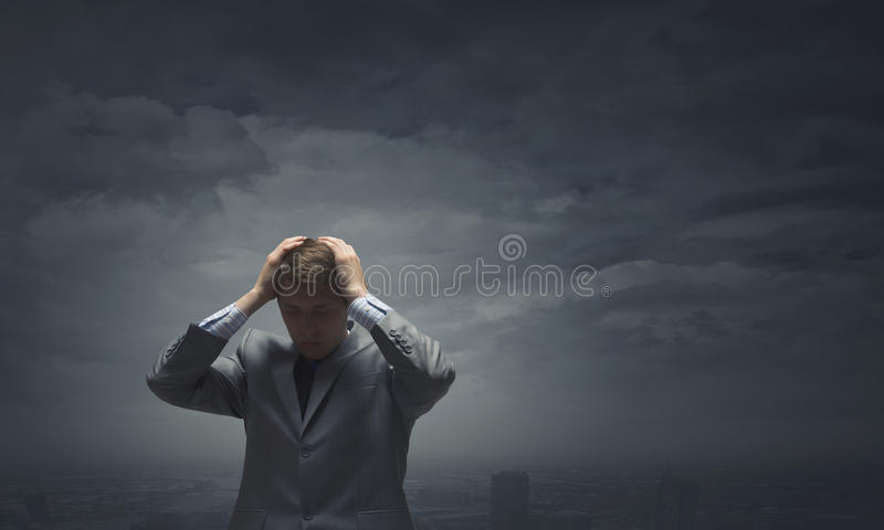 Falha no negócio imagem de stock