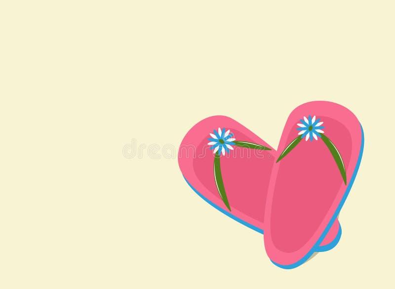 Falhanços cor-de-rosa da aleta ilustração stock