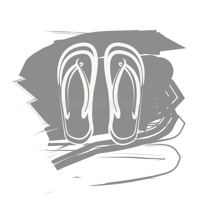 Falhanços de aleta cinzentos ilustração do vetor