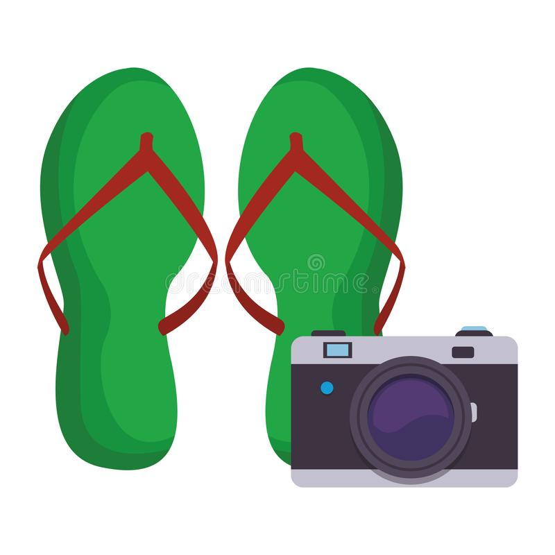 Falhanços de aletas com câmera ilustração do vetor