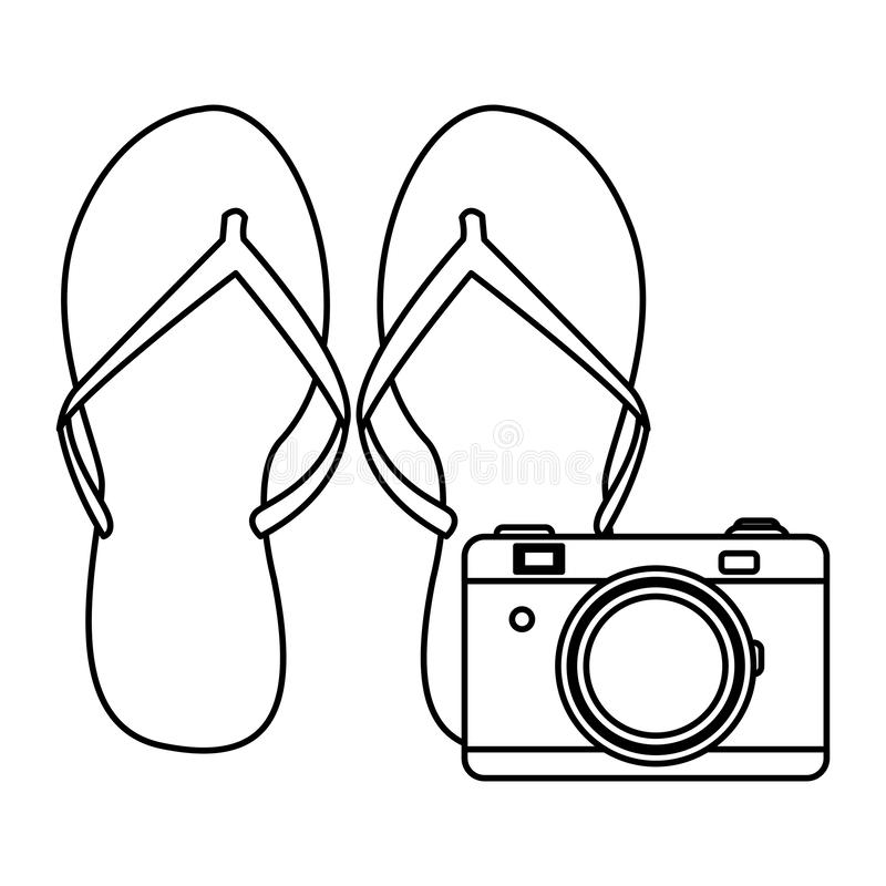 Falhanços de aletas com câmera ilustração royalty free