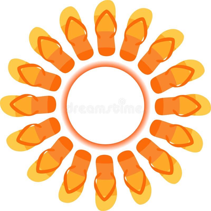 Falhanços Sun da aleta ilustração royalty free
