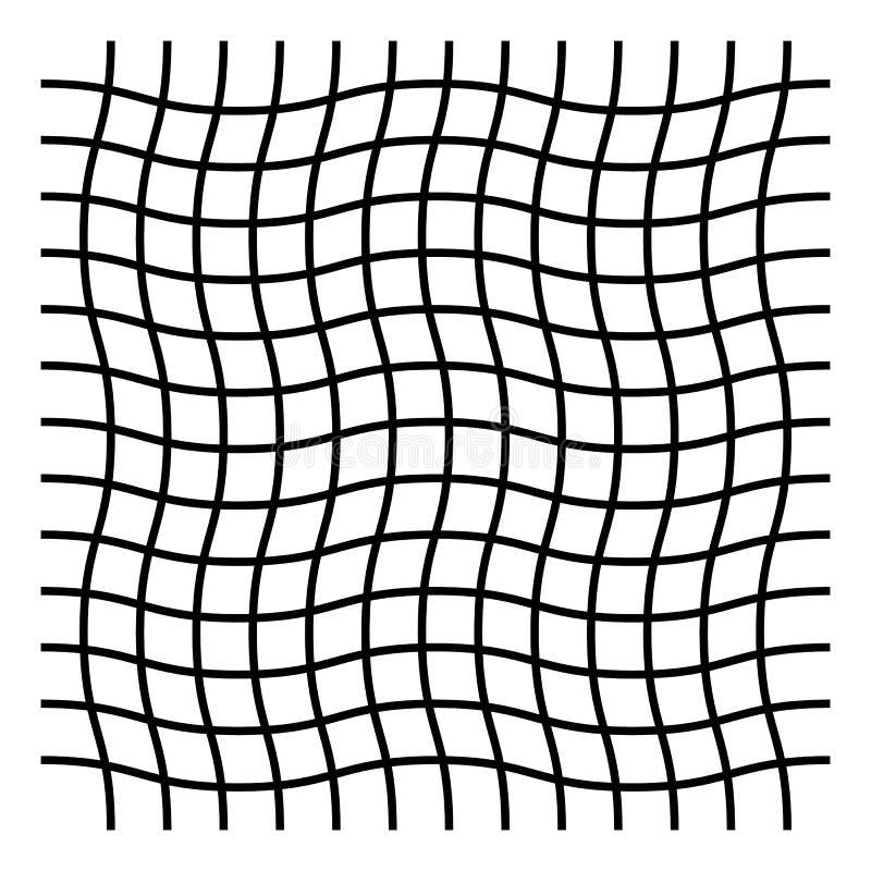 Faliści criss, zygzakowaty, krzyżują siatka wzór ilustracji
