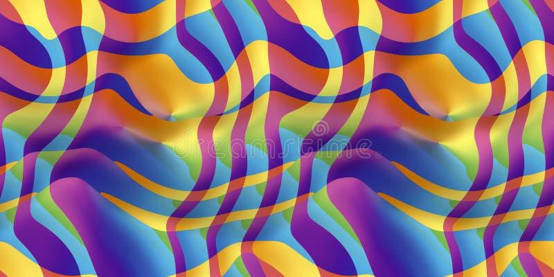 Faliści lampasy w spektralnych kolorach, bezszwowych ilustracji