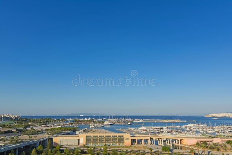 Faliro沿海水域,希腊 库存图片