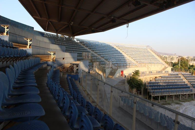 Faliro Plażowej siatkówki Olimpijski Centre - Faliro Nabrzeżnej strefy Olimpijski kompleks 14 roku po lato olimpiad Ateny 2004 zdjęcie stock