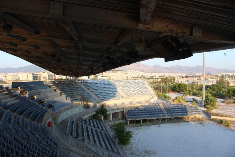 Faliro Plażowej siatkówki Olimpijski Centre - Faliro Nabrzeżnej strefy Olimpijski kompleks 14 roku po lato olimpiad Ateny 2004 zdjęcia stock
