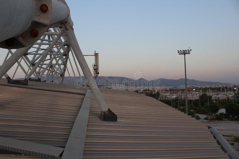 Faliro Plażowej siatkówki Olimpijski Centre - Faliro Nabrzeżnej strefy Olimpijski kompleks 14 roku po lato olimpiad Ateny 2004 zdjęcia royalty free