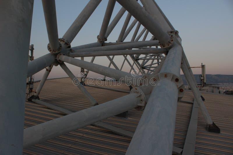 Faliro Plażowej siatkówki Olimpijski Centre - Faliro Nabrzeżnej strefy Olimpijski kompleks 14 roku po lato olimpiad Ateny 2004 obrazy stock