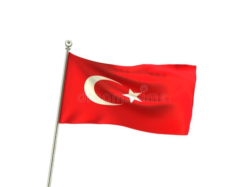 Falista turecka flaga ilustracja wektor