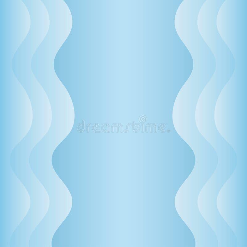 Falisty abstrakcjonistyczny tło, EPS 10 ilustracja fotografia stock