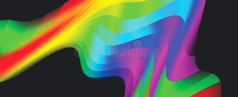 Falisty i kolorze na swirly czarny zmielony komputer wytwarzającym tle tapetowym projekcie i ilustracji