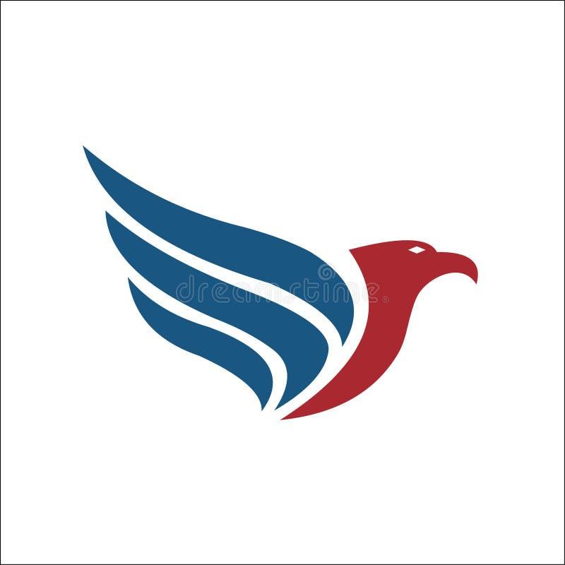 Falke-Eagle Bird Logo Template-Vektorikone vektor abbildung