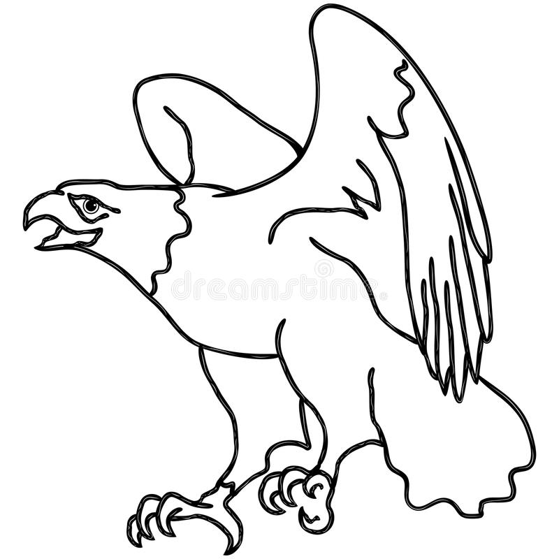 Falke während der Landung lizenzfreie abbildung