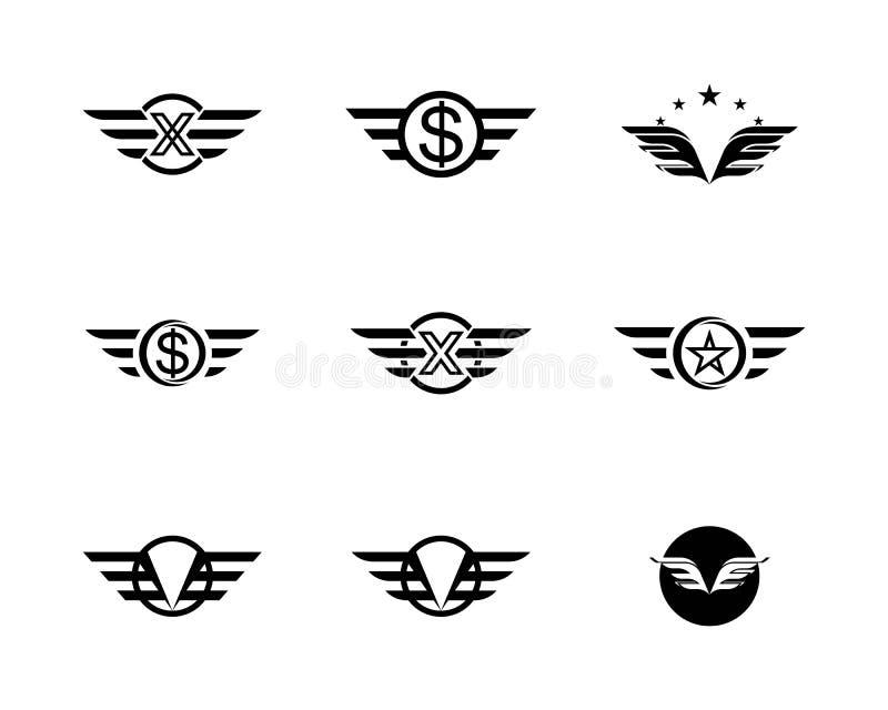 Falke-Wing Logo Template-Vektor vektor abbildung