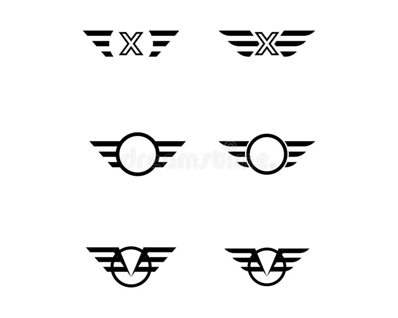 Falke-Wing Logo Template-Vektor stock abbildung