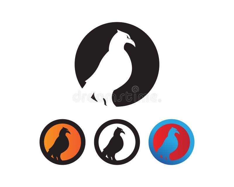 Falke-Wing Logo Template-Vektorikonendesign lizenzfreie abbildung