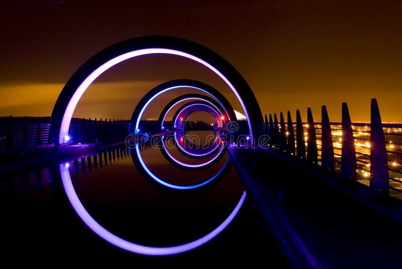 Falkirk Rad nachts stockbild