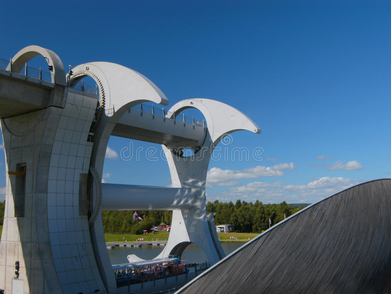 The Falkirk Wheel stock photo
