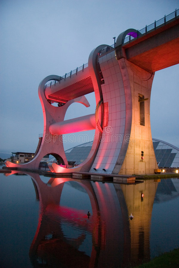 Falkirk Wheel At Night stock photography