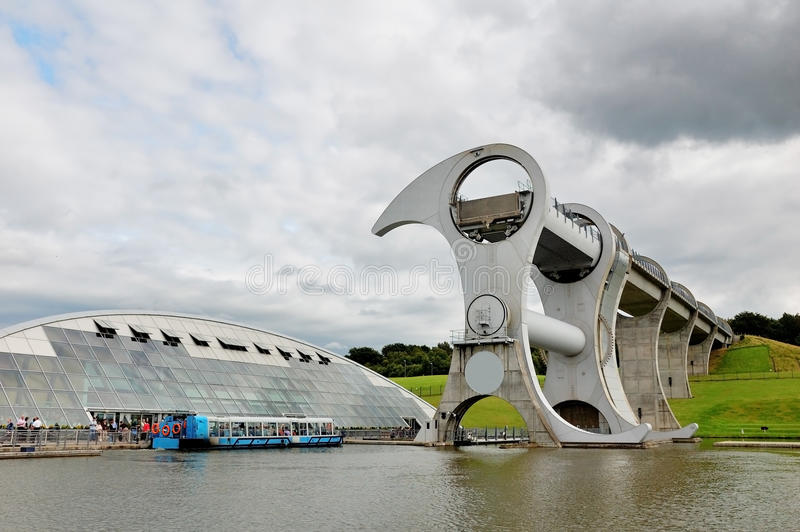 Falkirk Wheel, Scotland stock photography