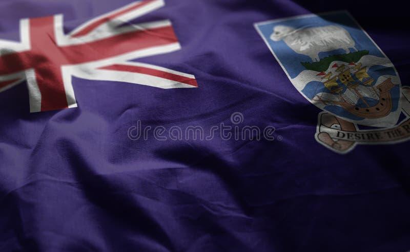 Falkland Islands Flag Rumpled Close para arriba fotografía de archivo libre de regalías
