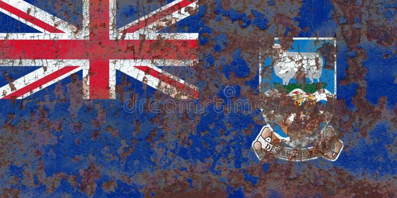 Falkland Islands grungeflagga, brittiska utländska territorier, britt arkivfoto