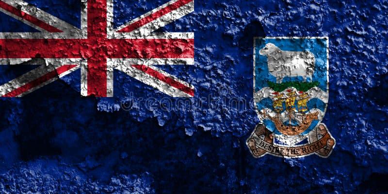 Falkland Islands grungeflagga, brittiska utländska territorier, britt fotografering för bildbyråer
