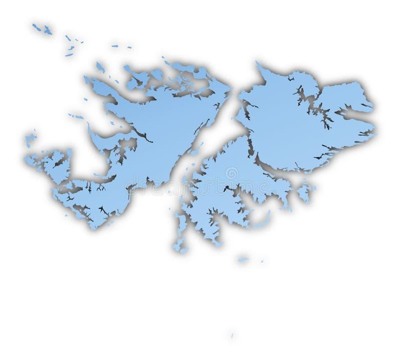 Download Falkland Islands map stock illustration. Image of gradient - 7307276