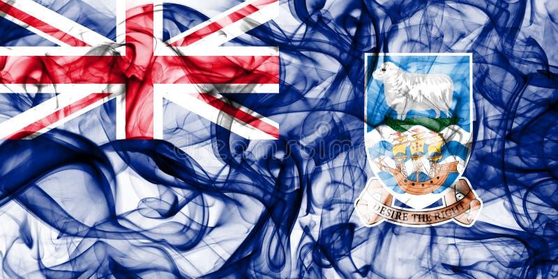 Falkland Islands rökflagga, beroende territorium flagga för brittiska utländska territorier, Britannien royaltyfri fotografi
