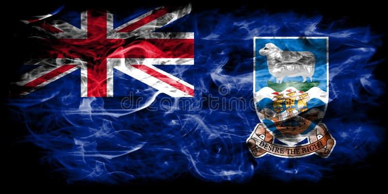 Falkland Islands rökflagga, beroende territorium flagga för brittiska utländska territorier, Britannien stock illustrationer